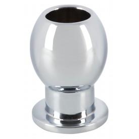 Алюминиевая анальная пробка с тоннелем Lust Tunnel Plug - 6,5 см.