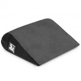 Чёрно-серая малая замшевая подушка для любви Liberator Jaz