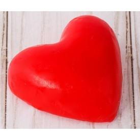 "Красная романтичная свеча-сердце ""Люблю"""